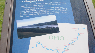 Found drawing of the Ohio River